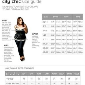 City Chic Size Chart & Measurements